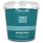 OLLIN BLOND PERFORMANCE Aroma Mint Осв. порошок с ароматом мяты 500г/ Blond Powder With Mint