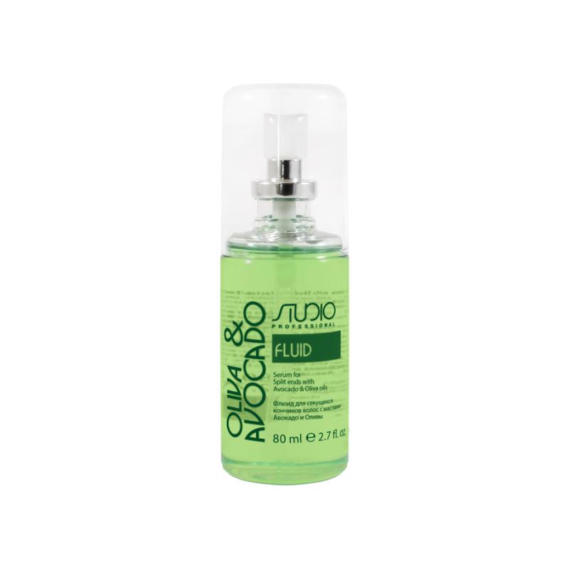 Флюид для секущихся кончиков волос с маслами Авокадо и Оливы линии Studio Professional 80мл